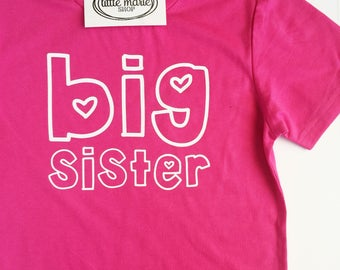 Big Sister Shirt - Big Brother Shirt - Pregnancy Announcement Shirt - Sibling Gift - Customize!