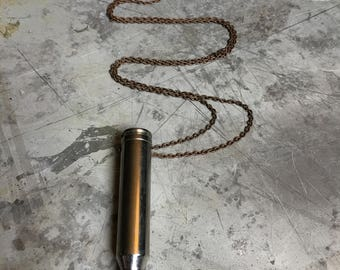 7 mm Bullet Crystal Necklace