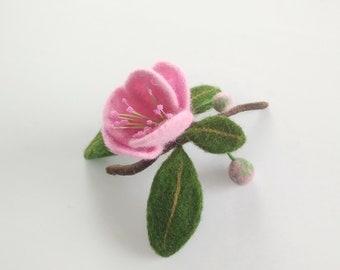 Brooch Sakura Handmade