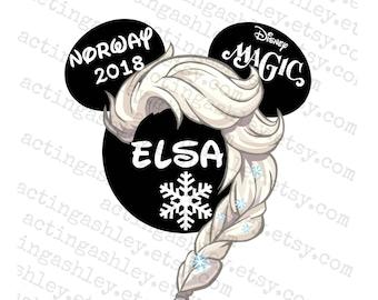 Elsa Inspired Disney Cruise Door Magnet
