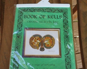 Book of Kells Cross Stitch Kit Letter M