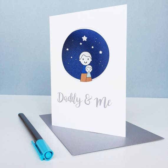 Personalised Daddy and Me Birthday Card
