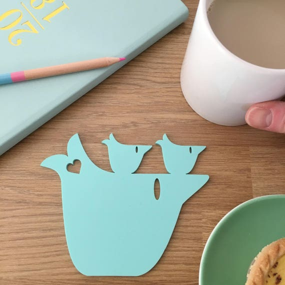 Mummy and baby bird coaster - mother's day gift - gift for mums