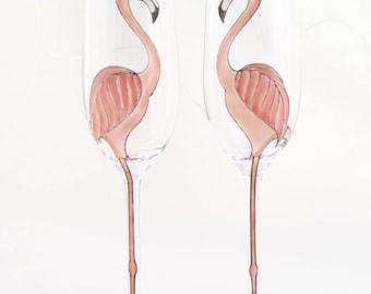 Flamingo Champagne Flute
