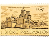 "10 Unused Historic Palace Postage Stamps // Vintage Southwestern Desert ""Palace"" // San Xavier Mission // Unused Stamps for Mailing"