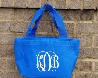 Monogrammed Lunch Bag-Girls Lunch Box-Monogrammed Lunch Box-Insulated Lunch Box-Group Discount-Bridesmaid-SHIPPING INCLUDED