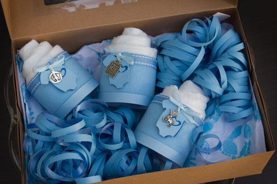 It's a Boy - Baby Shower Gift - Diaper Cake - Mini Diaper Cakes - Baby Boy Baby Shower Gift - Gift Box