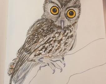 Inktober Owl Print!