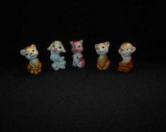 Vintage Porcelain Japanese Animal Figurines