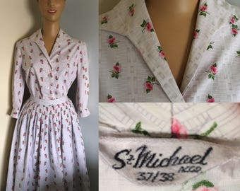 1950's ST MICHAEL print blouse and skirt