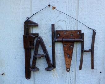 Recycled Metal Word - FAITH