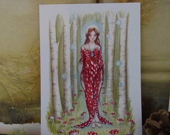 Brighid's Wood Small Goddess Art Print