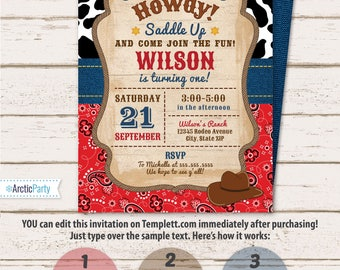 cowboy invitations Mayotteoccasionsco