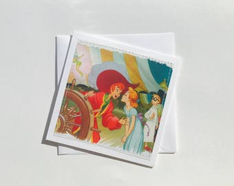Peter Pan - Disney Stitched Greeting Card and Envelope - Small - Blank