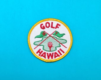 GOLF HAWAII Sew-On Patch Sewing Applique
