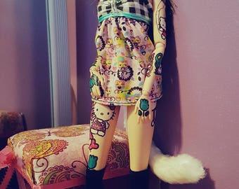 Ooak Kawaii hello kitty tattoo barbie
