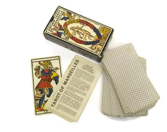 B P Grimaud Tarot Cards. Vintage French Tarot de Marseille Fortune Telling Cards.
