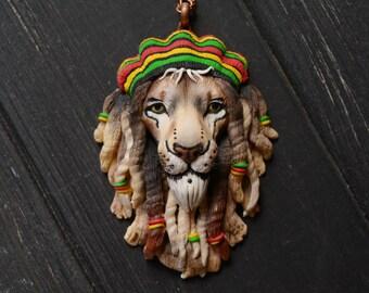 Rasta Lion pendant