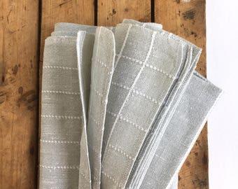Vintage tablecloth, Danish tablecloth, Gray tablecloth, Vintage table, Home decor linens, Cottage style tablecloth, Rustic tablecloth, Gift