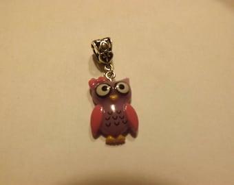 pretty silvery purple OWL pendant