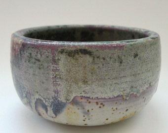 Bol paysage en céramique avec glaçure à effet. Bol à café. Bol à thé fait main.