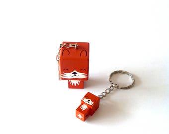 "Porte-clés Figurine cubique ""Renard"""