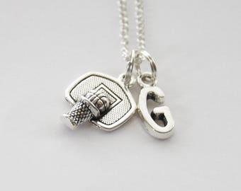 Basketball Necklace, Basketball Gifts, Basketball Net Necklace, Basketball Jewelry, Basketball Coach gift, Sports Necklace, Sports Jewelry