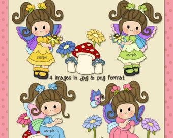 Butterfly Girls Brown Hair