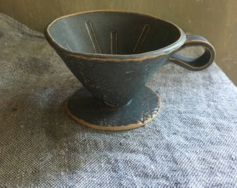 Ceramic coffee pour-over cone