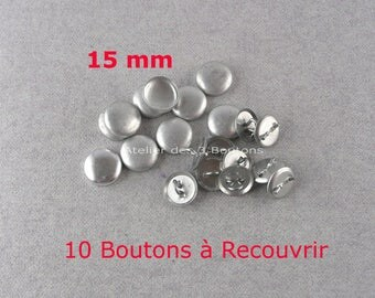 "10 Cover Buttons 5/8"" (Size 24)"