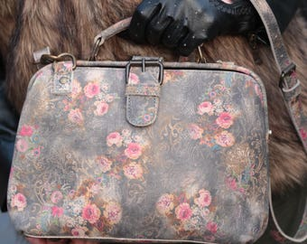 Doctor Frame Bag Small Floral Leather