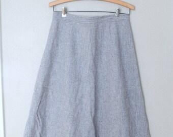 vintage pendelton gray wool  knee length skirt 28