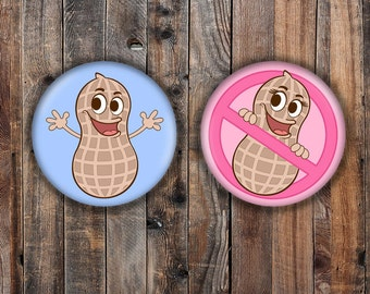 Nuts Or No Nuts Themed Gender Reveal Pins Peanut Boy And Girl