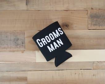 Groomsmen Can Cooler, Groomsman Beer Hugger, Groomsman Gift, Groomsmen Gift, Will You Be My Groomsman, Groomsmen, Personalized Groomsman