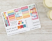 Flowers Hobonichi Weekly Planner Stickers; Summer Kit; Weekly Sticker Kit; Hobonichi Techo Cousin Sticker