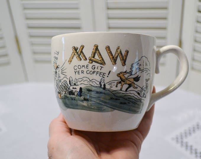 Vintage Maw Coffee Cup Hillbilly Funny Maw Come Git Yer Coffee USA PanchosPorch