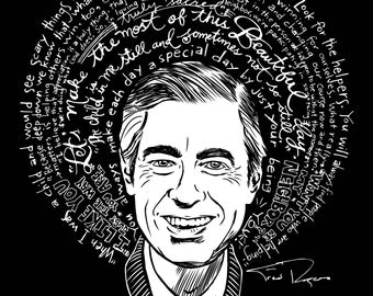 """Mister Fred Rogers Artist Saint 8"""" x 10"""" Print- Free Shipping in US for a limited time!"""