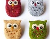 Owl Brooch Pin pdf Pattern