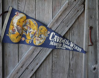 Cave of the Winds Manitou Springs Colorado Felt Souvenir Pennant