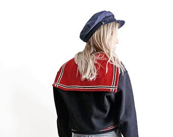 50s Butwin Varsity Jacket - Wool Cheerleader Jacket - Black Red White - Made in USA - Champion of Jackets