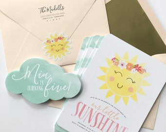 Printable You Are My Sunshine Birthday Invitation