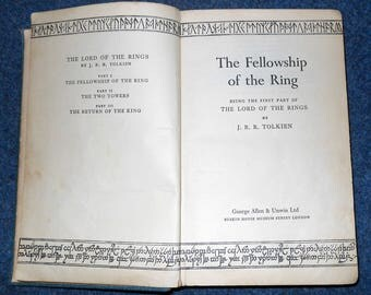 J R R Tolkien, The Lord Of The Rings, 1st Edition, 7th Impression 1957, scarce early edition