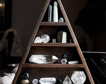 The Original All Seeing Eye Triangle Shelf for Crystal Display
