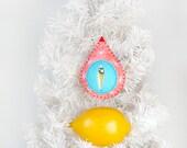 vagina ornament, vulva decoration, fertility totem, empowerment, feminist art, first christmas, maternity gift, midwife {Big Snowy Cora}