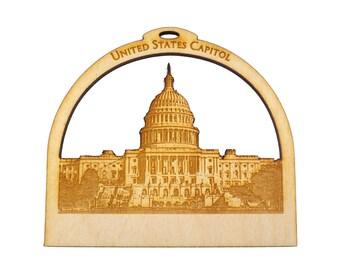 US Capitol Building Ornament - Washington DC Ornament - Americana Decor - Americana Gifts -  Washington DC Souvenir - Personalized Free