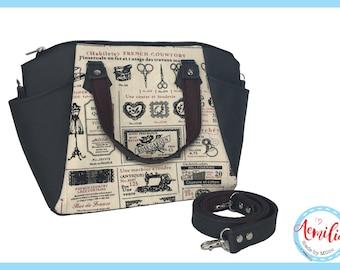 Annette handbag, sewing, naaien, paspop, schaar, embroidery, borduren, naaimachine, broderie, handmade, swoon,