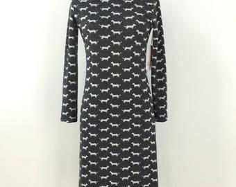 Straight fit dress - Womens dress - Long sleeves - Comfortable - Knit - Soft - Pattern - Round neck - Nebula Teckel