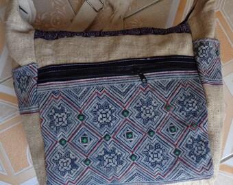 Vietnam Hmong  Cotton  batik  Messenger Bag