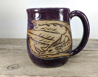 Dragon Mug 16 oz - Dungeon Master Gift - Dragon Gift Ideas - Dragon Mug - Large Mug for Tea - Big Mug - Dragon Gift Him - Mesiree