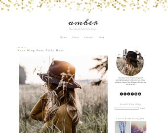 Blogger Template | Blogger Template Responsive | Gold Blogger Template | Blogger Theme